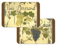 A Grapes on Wine Labels Vinyl/Plastic Placemats