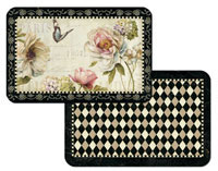 French Bouquet Floral Wipe-clean 4 Plastic Placemats
