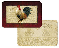 Farm Fresh Rooster Wipe-Clean * 4 Plastic Placemats