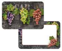 Chalkboard Wine Grape 4 Vinyl Plastic Placemats