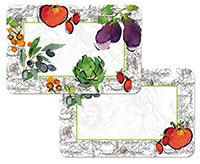 Alfresco Italia Vegetables 4 Plastic Placemats CLEARANCE