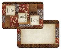 A Spice of Life Wipe-clean 4 Plastic Placemats