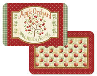 A Country Apple Vinyl/Plastic Placemat - Appletree