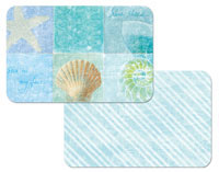 A Seaside Notebook Beach Coastal 4 Plastic Placemats