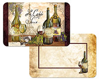 * Reserve Vintage Reversible Wine/Grape 4 Plastic Placemats