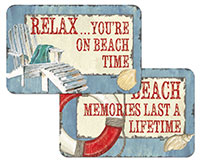 * NEW Beach Time Coastal Vinyl Plastic Placemat