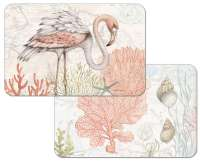 4 Beach Flamingo Plastic Placemats Shoreline