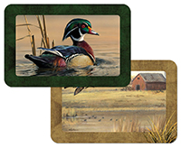 4 Hautman Waterbirds Duck Cabin Lodge plastic Placemats