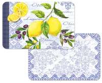 Lemons & Olives Fruit 4 Plastic Placemats