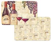 * 4 Grape Wine Plastic Placemats - Wine Tradition