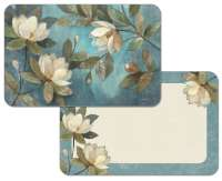 * 4 Floral Reversible Plastic Placemats Floating Magnolias
