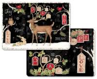 4 Holiday Plastic Placemats Woodland Wonder