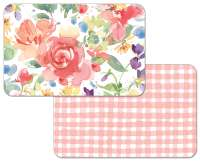 Plastic Placemats Reversible Vinyl Counter Art