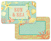 * Sun And Seashell Coastal Beach Plastic Placemat