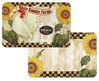 4 Farmland Rooster Sunflower Placemats