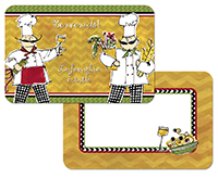 Chef On The Go Reversible Vinyl-Plastic 4 Placemats