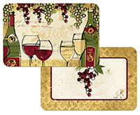4 Wine Not Grape Themed Vinyl Pastic Placemats