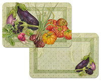 A Vegetable du Jour Wipe-clean Vinyl-Plastic 4 Placemats