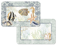 4 Shells & Coral Coastal Beach Placemats