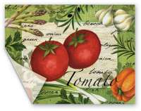 Heavy Duty -2 Flexible Cutting Placemats - Tomato Salad