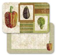 Gourmet Vegetables - 4 Placemats Left CLEARANCE!!