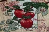 4 Cloth Fabric Tapestry Placemats - Red Apple
