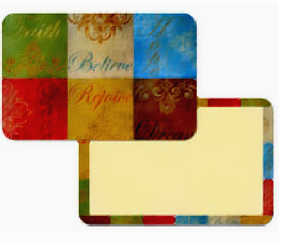 4 Faith Hope Believe Inspirational Placemats CLEARANCE!!