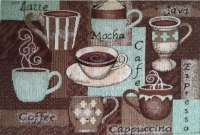 Cloth Fabric 4 Tapestry Placemats-Coffee Latte