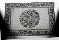 A Tapestry Fabric Cloth 4 Placemats-Fleur De Lis Medallion