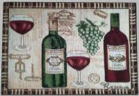 4 New Arrivals Tapestry Fabric Placemats-Grape Wine