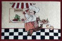 4 Cloth Fabric Tapestry Placemats-Chef Panini