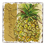 2 Pineapple Cork-Backed Tile Trivets