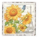 Cork-Backed Tile Trivets 2-Sunflower Postcard