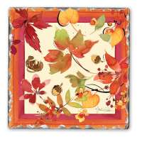 Fruitful HarvestCork-Backed Ceramic Tile Trivet Set of 2