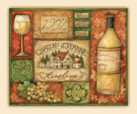 * Grand Vin Wine Grape Tempered Glass 15x12  Cuttingboard