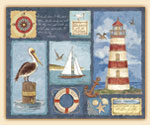 A Glass Cuttingboard Nautical Lighthouse Pelican Reef