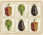 A 15x12 Glass Cuttingboard Gourmet Vegetables