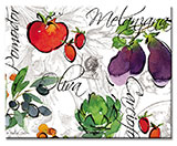 Alfresco Italia Abstract Vegie Glas cuttingboard/Server/Trivet