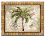 A Glass Tropical Cuttingboard West Indies Palm Trees