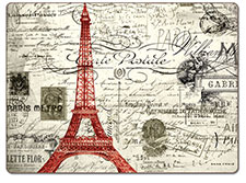 4 Cork backed Hardboard Placemats Eifel Tower Vintage Paris