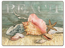 A Coastal Beach Seashells Hardboard Placemat-