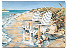 A Beach Days Coastal Hardboard Cork Back Placemat