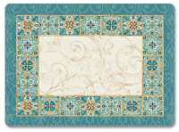 4 CorkBack Hardboard Table-Placemats Majestic Beauty Mosaic