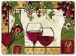 4 CorkBacked Hardboard Table-Placemats Wine/Grape -Wine Not