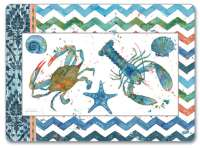 4 CorkBacked Hardboard Table-Placemats Coastal BlueCrab Lagoon