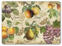 4 CorkBack Hardboard Table-Placemats Vintage Apple,Grape,Pear