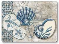 4 Cork Back Hardboard Placemats Beach Seashell TidePool