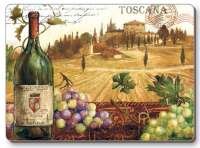 . 4 Cork Backed Hardboard Placemats Grape-Wine View .