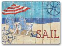 4 Cork Backed Hardboard Placemats Coastal Beach Seas The Day