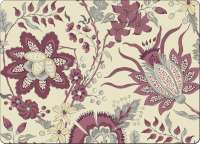 ~ 4 CorkBacked Hardboard Table-Placemats Plum Paisley